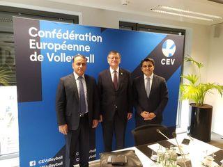 Voleybolumuzda inkişaf planı – CEV prezidenti ilə danışıqlar oldu