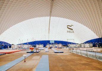 Köməkçi zalı sökülür - Milli Gimnastika Arenasının