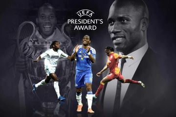 UEFA prezidenti mükafatına layiq görüldü – Didye Droqba