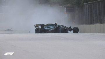 """Lens Stroll qəzaya uğradı - """"Formula-1"""""""