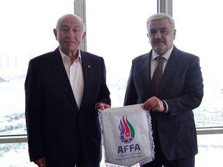 TFF prezidenti ilə görüşdü – Rövnəq Abdullayev