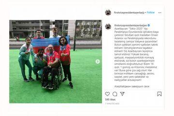 Paralimpiya Oyunlarında uğur qazanan idmançılarımızı təbrik etdi - Mehriban Əliyeva